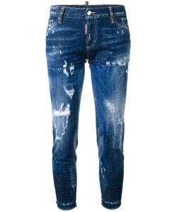 Dsquared2 | Distressed Jeans 46 Cotton/Spandex/Elastane/Polyester