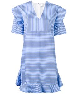 MSGM | Striped Ruffled Dress 42