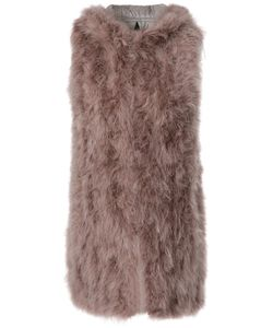 Wlg By Giorgio Brato | Peacock Feathered Padded Gilet Women