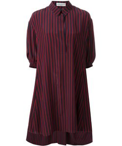 Sonia Rykiel | Striped Shirt Dress 44 Silk