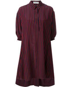 Sonia Rykiel | Striped Shirt Dress 44 Silk