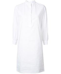 ATLANTIQUE ASCOLI | Mandarin Neck Shirt Dress 1 Cotton/Linen/Flax