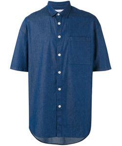 Sunnei | Oversized Chambray Short Sleeve Shirt Size Large