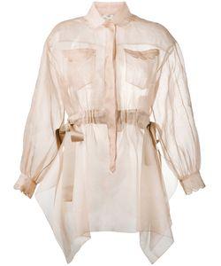 Fendi   Sheer Long Sleeve Shirt
