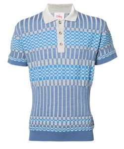 ORLEY | Panelled Knit Polo Shirt Size Small