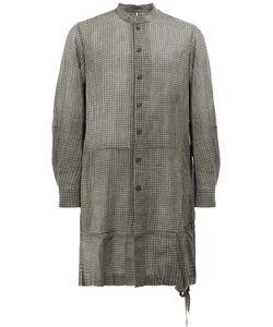 ZIGGY CHEN | Patterned Slouch Shirt 48 Cotton