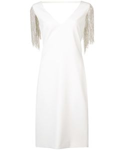 Badgley Mischka | Crystal Sleeve Dress
