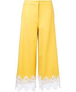 Sara Battaglia | Lace Hem Cropped Trousers