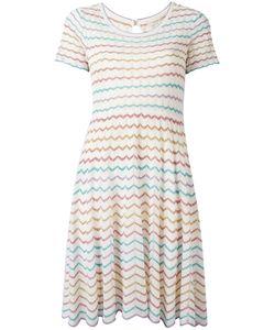 Marc Jacobs | Zigzag Fla Dress Medium Viscose/Nylon Fibre/Silk