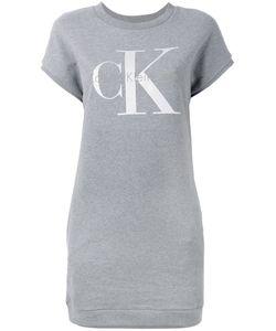 Calvin Klein Jeans | Logo Print Sweat Dress Size Small
