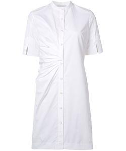 Nellie Partow | Button Front Shirt Dress 8 Cotton