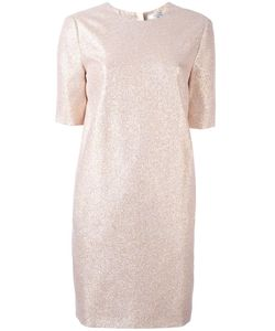 Lanvin | Glitter Detail Shift Dress 36 Silk/Polyester