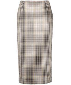 Irene | Checked Pencil Skirt