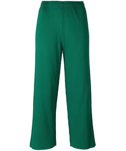 Issey Miyake Cauliflower | Ribbed Detail Cropped Pants Polyester