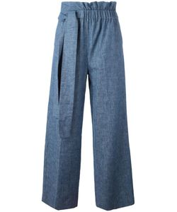 MSGM | Gathe Waist Trousers 42 Linen/Flax/Cotton