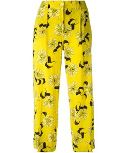 P.A.R.O.S.H. | P.A.R.O.S.H. Cropped Print Trousers