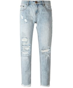 One Teaspoon | Cropped Distressed Jeans 28 Cotton