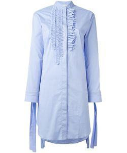 Cedric Charlier | Cédric Charlier Ruffled Detail Shirt Dress 44 Cotton/Other