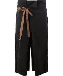 ZIGGY CHEN | Waist-Tie Cropped Trousers 46 Cotton