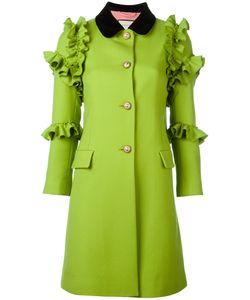 Gucci   Flounce Coat 40 Wool/Cotton/Spandex/Elastane/Silk