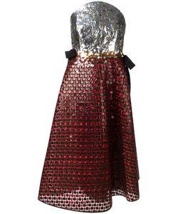 Delpozo | Strapless Sequin Dress 40 Silk/Polyester/Cotton