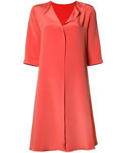 PETER COHEN | Split Neck Dress Small Silk