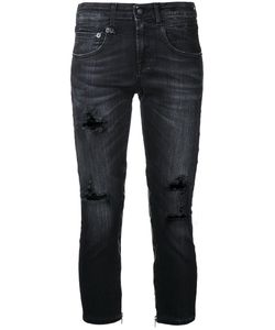 R13   Cropped Distressed Jeans Size 25