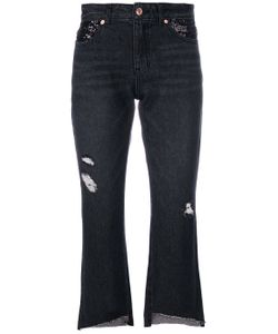 SJYP | Cropped Ripped Jeans