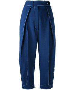 SportMax | Pleat Front Trousers 44 Cotton/Linen/Flax/Viscose