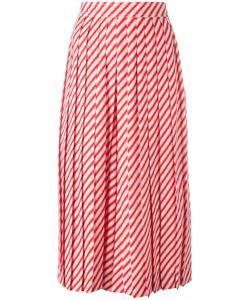Céline   Striped Pleated Long Shorts Size 42