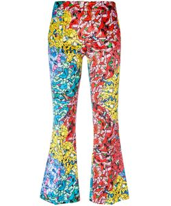 Ultràchic | Printed Flared Cropped Trousers