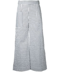 Eudon Choi | Striped Cropped Trousers Size 10