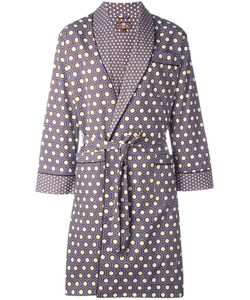OTIS BATTERBEE | Cobalt Cravat Dressing Gown Medium Cotton