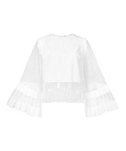 Adam Lippes   Fla Sleeve Panel Blouse 2 Cotton