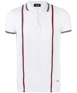 Dsquared2 | Plaid-Trimmed Polo Shirt S