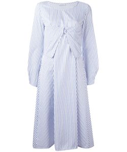 J.W. Anderson | J.W.Anderson Striped Midi Dress Size 10 Cotton