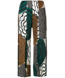 PLEATS PLEASE BY ISSEY MIYAKE | Printed Pleated Cropped Trousers