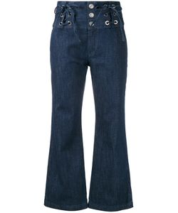 See By Chloe | See By Chloé Lace Front Cropped Jeans