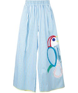 Mira Mikati | Embroidered Wide-Leg Trousers