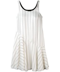Giorgio Armani | Striped Ruffle Hem Dress