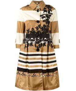 Herno | Striped Flared Coat 44