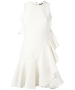 Alexander McQueen | Ruffled Mini Dress 44 Virgin Wool/Polyamide/Silk