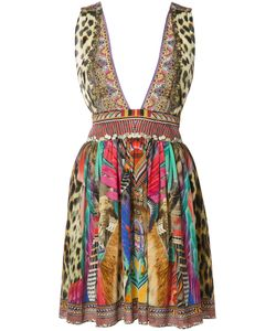 Camilla | Printed Plunge Dress 8 Silk