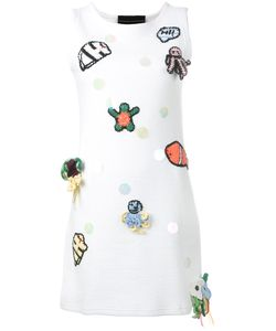Michaela Buerger   Patches Mini Tank Dress Size Medium