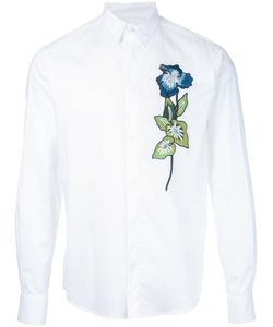 Christian Pellizzari | Embroidered Flower Shirt Size 44