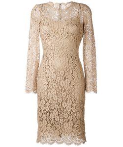 Dolce & Gabbana   Кружевное Платье С Цветочным Узором
