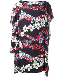 MSGM | Print Asymmetric Dress 42 Viscose/Polyester