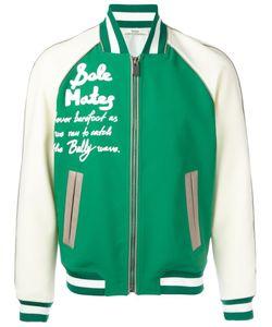 Bally | Leather Varsity Bomber Jacket 50 Nylon/Polyester/Spandex/Elastane/Lamb Skin