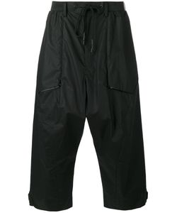 Y-3 | Wide Leg Cropped Trousers Medium Cotton