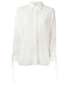 Iro | Lace Up Shoulders Textu Shirt 34 Polyester